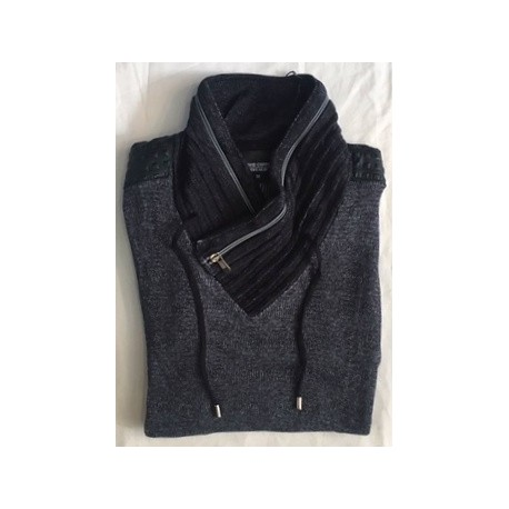 Pull fin col gros