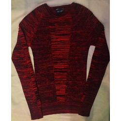 Pull fin rouge