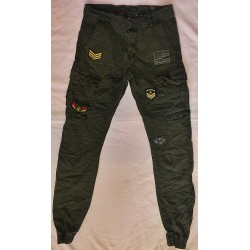 Pantalon vert patches