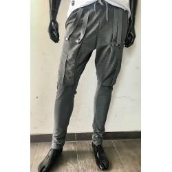 Pantalon Gris Cordes