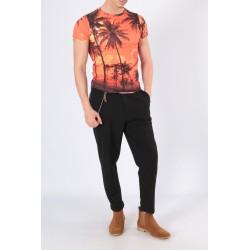 t/shirt slim fit motif palmiers