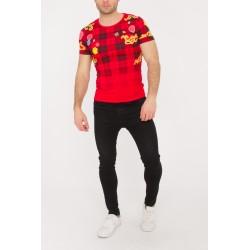 T/shirt slim fit fashion rouge