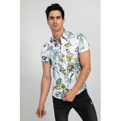 chemise fashion à fleurs
